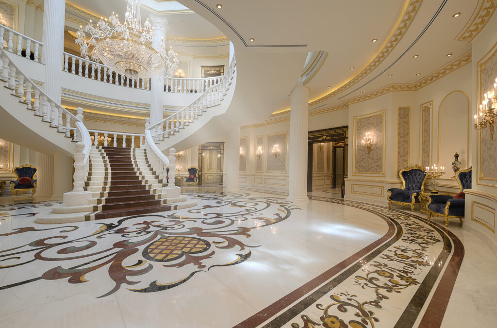 Al Gharafa Private Palace LED Strip Lighting and LED Downlights