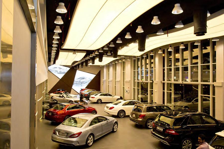 Mercedes Benz Doha Lighting solutions